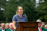 Jennifer Kupcho (USA) speaking after the final  round at the Augusta National Womans Amateur 2019, Augusta National, Augusta, Georgia, USA. 06/04/2019.<br /> Picture Fran Caffrey / Golffile.ie<br /> <br /> All photo usage must carry mandatory copyright credit (&copy; Golffile | Fran Caffrey)