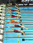 19.08.2014, Velodrom, Berlin, GER, Berlin, Schwimm-EM 2014, im Bild Start, 100m Breaststroke - Women, <br /> <br />               <br /> Foto &copy; nordphoto /  Engler