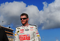 Nov. 14, 2008; Homestead, FL, USA; NASCAR Sprint Cup Series driver Dale Earnhardt Jr during qualifying for the Ford 400 at Homestead Miami Speedway. Mandatory Credit: Mark J. Rebilas-