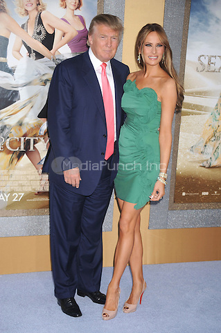 Donald Trump and Melania Trump at the film premiere of 'Sex and the City 2' at Radio City Music Hall in New York City. May 24, 2010.Credit: Dennis Van Tine/MediaPunch