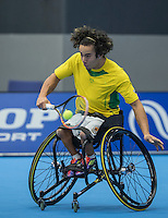 Rotterdam, Netherlands, December 15, 2016, Topsportcentrum, Lotto NK Tennis, Wheelchair, Carlos Anker (NED) <br /> Photo: Tennisimages/Henk Koster