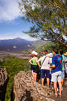 Mount Etna, tourists on a guided tour of the volcano, Sicily, UNESCO World Heritage Site, Italy, Europe. This is a photo of a tourist on a guided tour of Mount Etna Volcano, Sicily, UNESCO World Heritage Site, Italy, Europe.