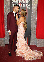 Stephanie Davis and Owen Warner at The British Soap Awards 2019 arrivals. The Lowry, Media City, Salford, Manchester, UK on June 1st 2019<br /> CAP/ROS<br /> ©ROS/Capital Pictures