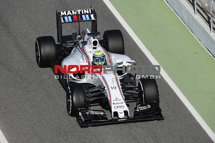 Formel 1 Testfahrten 2016 in Barcelona<br /> Felipe Massa (BRA#19), Williams Martini Racing<br /> <br /> <br /> Foto &copy; nordphoto /  Bratic