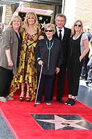 LOS ANGELES - MAY 4:  Goldie Hawn, Kurt Russell, Kurt's Mother, Kurts Sisters at the Kurt Russell and Goldie Hawn Star Ceremony on the Hollywood Walk of Fame on May 4, 2017 in Los Angeles, CA