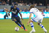 San Jose, CA - Saturday, March 04, 2017: Fatai Alashe during a Major League Soccer (MLS) match between the San Jose Earthquakes and the Montreal Impact at Avaya Stadium.