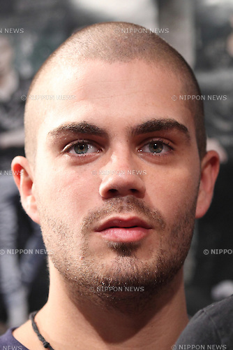 The Wanted, May 19, 2013 : Max George of The Wanted attends press conference on 19 May Tokyo Japan. (Photo by Mooto Naka/AFLO)