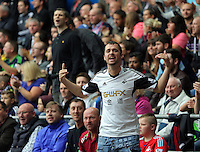 Pictured: Swansea supporters Sunday 30 August 2015<br />