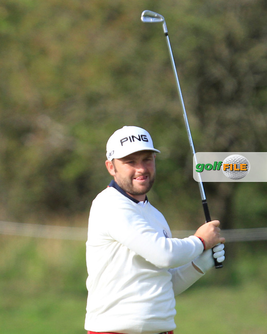 Andy Sullivan (ENG) on the 2nd fairway during Round 4 of the 2015 KLM Open at the Kennemer Golf &amp; Country Club in The Netherlands on 13/09/15.<br /> Picture: Thos Caffrey | Golffile