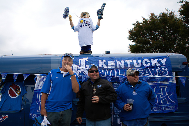 """SEC Network's show """"SEC Nation"""" visits the UK campus prior to the game between the Kentucky Wildcats and the Mississippi State Bulldogs at Commonwealth Stadium on Saturday, October 25, 2014 in Lexington, Ky. Photo by Michael Reaves 