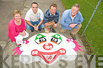 GOING IT ALONE: Four South Kerry locals left unemployed in April, decided to set up their own business Iveragh Play Markings in May,  Patrick Mahony and Julie O'Connor, James Shean and Padraig O'Neill.