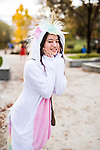 _E1_2261<br /> <br /> 1610-85 GCI Halloween Costumes<br /> <br /> October 31, 2016<br /> <br /> Photography by: Nathaniel Ray Edwards/BYU Photo<br /> <br /> &copy; BYU PHOTO 2016<br /> All Rights Reserved<br /> photo@byu.edu  (801)422-7322<br /> <br /> 2261