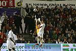 04 June 2008: Clint Dempsey (USA) (8) challenges goalkeeper Iker Casillas (ESP) (left). The Spain Men's National Team defeated the United States Men's National Team 1-0 at Estadio Municipal El Sardinero in Santander, Spain in an international friendly soccer match.