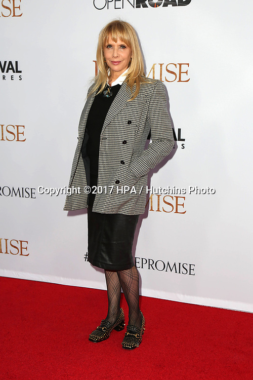 "LOS ANGELES - APR 12:  Rosanna Arquette at the ""The Promise"" Premiere at the TCL Chinese Theater IMAX on April 12, 2017 in Los Angeles, CA"