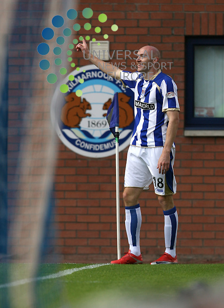 Kilmarnocks Conor Sammon(18)  celebrates his goal during the Kilmarnock v St Mirren Clydesdale Bank Scottish Premier League at Rugby Park 29/08/09....Picture by Ricky Rae/ Universal News & Sport (Scotland).