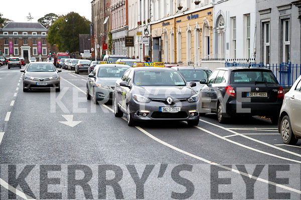 Cycle Lane Blocked by Taxis in Denny Street