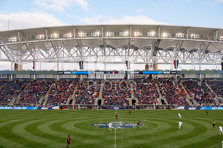 Chester, PA - Sunday December 10, 2017: Talen Energy Stadium. Stanford University defeated Indiana University 1-0 in double overtime during the NCAA 2017 Men's College Cup championship match at Talen Energy Stadium.