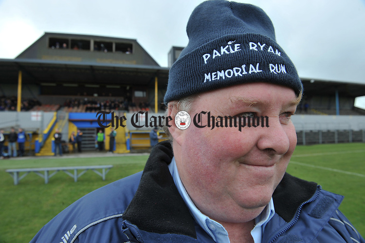 Christy Ryan at the National Football League Division 4 game at Cusack park, Ennis. Photograph by John Kelly.
