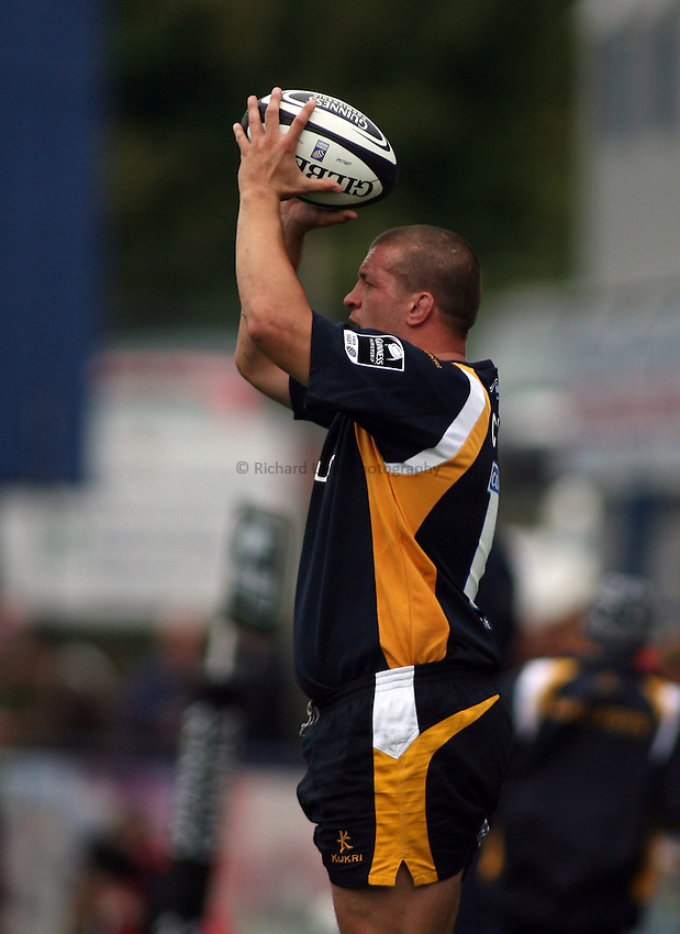 Photo: Rich Eaton...Worcester Warriors v Bristol Rugby. Guinness Premiership. 02/09/2006. Chris Fortey of Worcester.
