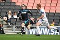 Sam Wedgbury of Stevenage outpaces Dean Lewington of MK Dons<br />  - MK Dons v Stevenage - Sky Bet League One - Stadium MK, Milton Keynes - 28th September 2013. <br /> © Kevin Coleman 2013