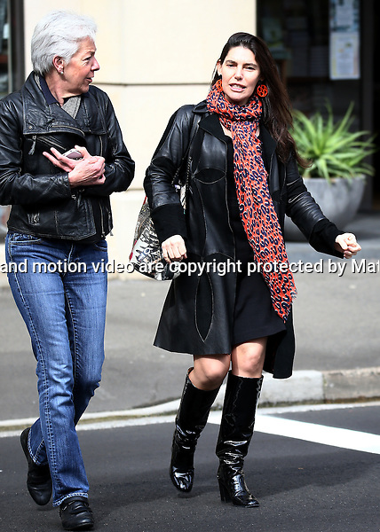 4 SEPTEMBER 2014 SYDNEY AUSTRALIA<br /> <br /> EXCLUSIVE PICTURES<br /> <br /> Gretel Packer pictured having lunch with a friend at Zinc Cafe in Potts Point. <br /> <br />  *No internet without clearance*.<br /> MUST CALL PRIOR TO USE <br /> +61 2 9211-1088. <br /> <br /> Matrix Media Group.Note: All editorial images subject to the following: For editorial use only. Additional clearance required for commercial, wireless, internet or promotional use.Images may not be altered or modified. Matrix Media Group makes no representations or warranties regarding names, trademarks or logos appearing in the images.
