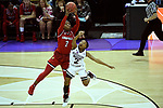 COLUMBUS, OH - MARCH 30: Myisha Hines-Allen #2 of the Louisville Cardinals and Morgan William #2 of the Mississippi State Bulldogs fight over a loose ball during a semifinal game of the 2018 NCAA Division I Women's Basketball Final Four at Nationwide Arena in Columbus, Ohio. (Photo by Tim Nwachukwu/NCAA Photos via Getty Images)