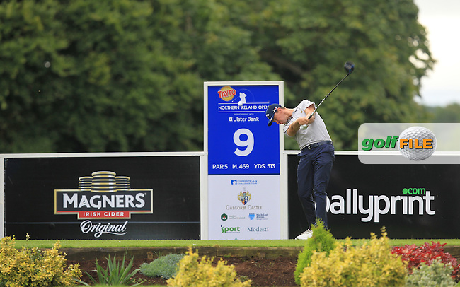 Ben Stow (ENG) on the 9th tee during Round 2 of the Tayto Northern Ireland Open in partnership with Ulster Bank at Galgorm Castle Golf Club, Ballymena Co. Antrim on Saturday 30th July 2016.<br /> Picture:  Golffile | Thos Caffrey<br /> <br /> All photos usage must carry mandatory copyright credit   (&copy; Golffile | Thos Caffrey)