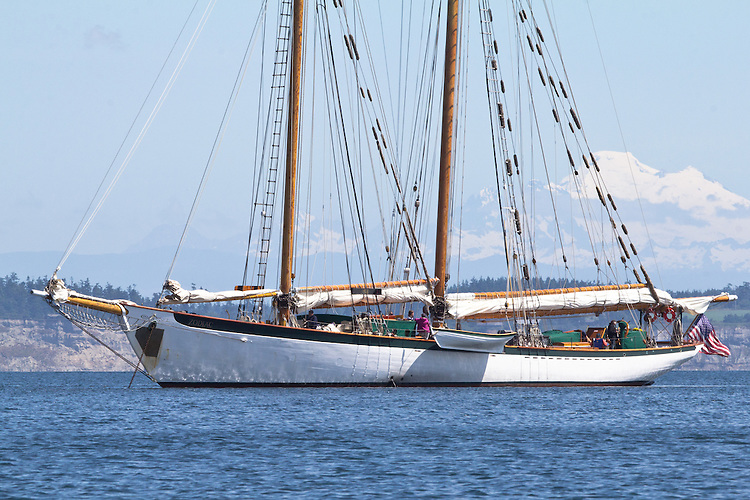 Port Townsend, Adventurous, schooner, Puget Sound, Admiralty Inlet, Washington State, Pacific Northwest, USA,Olympic Peninsula,