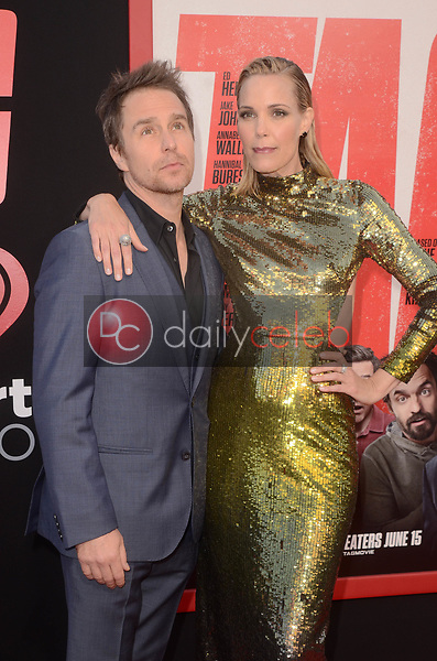 "Sam Rockwell, Leslie Bibb<br /> at the ""Tag"" World Premiere, Village Theater, Westwood, CA 06-07-17<br /> David Edwards/DailyCeleb.com 818-249-4998"