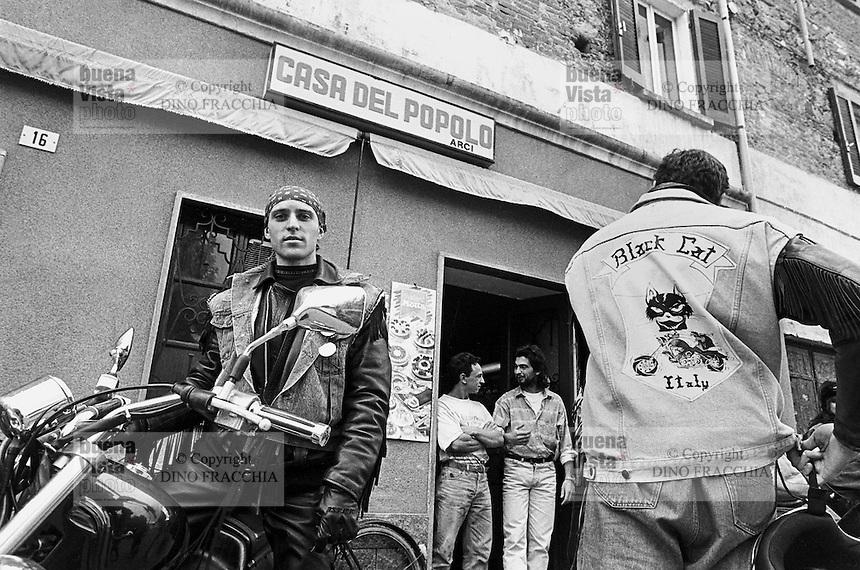 "- ""bikers"" motorcyclists of ""Black Cats"" group in Gozzano (Novara)....- motociclisti ""bikers"" del gruppo ""Black Cats"" a Gozzano (Novara)"