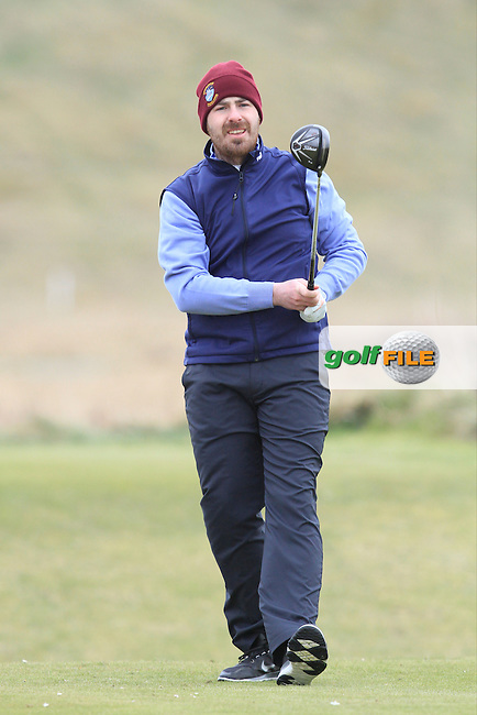 Des Morgan (New Forrest) during the 36 hole stroke play qualifying on April 3rd 2015 for the 2015 West of Ireland Open Championship, Co. Sligo, Golf Club, Rosses Point, Sligo, Ireland.<br /> Picture: Thos Caffrey / Golffile