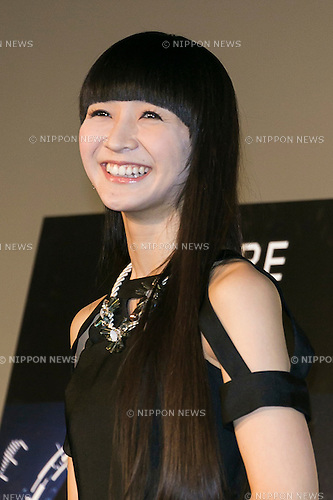 Kashiyuka a member of the Japanese pop girl group Perfume attends a stage greeting for the movie ''WE ARE Perfume WORLD TOUR 3rd DOCUMENT'' at TOHO CINEMAS in Roppongi on October 24, 2015, Tokyo, Japan. Perfume's movie will be released in Japanese theaters on October 31. The screening is part of the 28th Tokyo International Film Festival which is one of the biggest film festivals in Asia and runs from October 22 to Saturday 31. (Photo by Rodrigo Reyes Marin/AFLO)