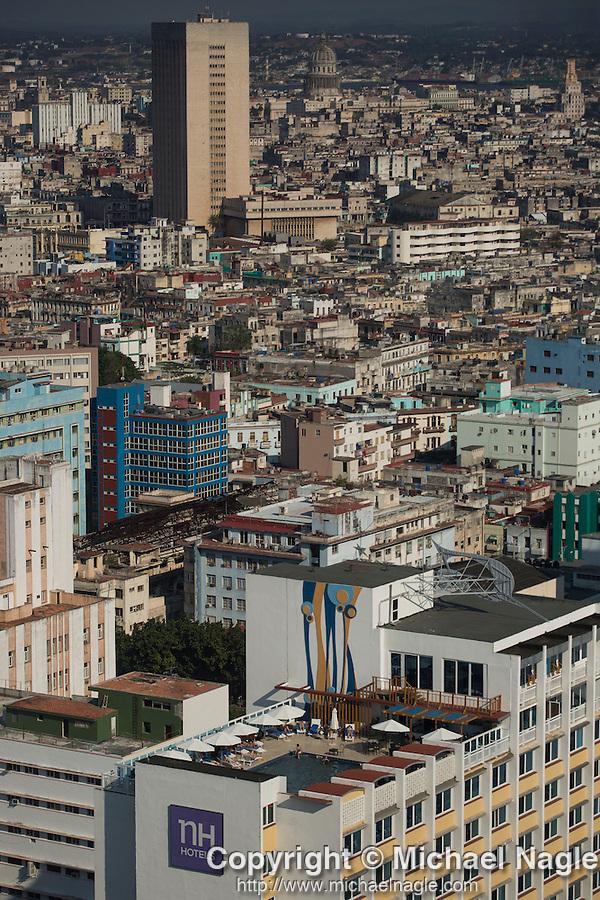 HAVANA, CUBA -- MARCH 23, 2015:  An overview of Havana, Cuba on March 23, 2015. Photograph by Michael Nagle