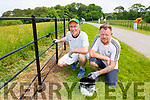 Painters Peter Walsh and Frazier Fyffe painting the railings in Muckross ahead of prince Charles visit
