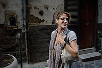"Conchita Sannino, journalist..Correspondent from Napoli for ""Repubblica"" newspaper."