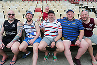 Picture by David Neilson/SWpix.com/PhotosportNZ - 09/02/2018 - Rugby League - Betfred Super League - Wigan Warriors v Hull FC - Captain's Run - WIN Stadium, Wollongong, Australia - Fans, supporters.
