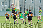 In Action Stacks Kieran Donaghy gets the ball from S. Kerry's Niall O'Shea at the Garvey's Supervalu Senior County Football Championship Round 2A at Connolly Park on Saturday Austin Stacks V South Kerry