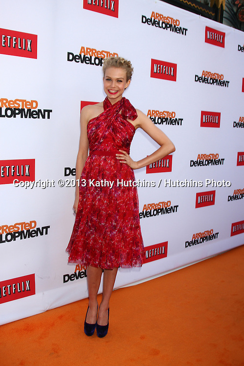 "LOS ANGELES - APR 29:  Penelope Mitchell arrives at the ""Arrested Development"" Los Angeles Premiere at the Chinese Theater on April 29, 2013 in Los Angeles, CA"