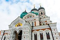 Estonia, Tallinn, Old town, UNESCO World Heritage Site. Russian Orthodox Church, St. AlexanderNevsky Cathedral.