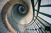 Europe/France/Bretagne/29/Finistère/Lilia: Escalier du   Phare de l'Ile Vierge  sur l'océan   à la sortie de l'Aber Wrac'h