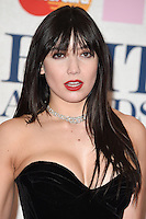 Daisy Lowe arrives for the BRIT Awards 2015 at the O2 Arena, London. 25/02/2015 Picture by: Steve Vas / Featureflash