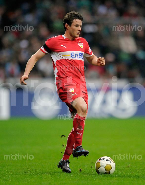 Fussball    1. Bundesliga    Saison 2008/2009    24. Spieltag     Werder Bremen - VfB Stuttgart     15.03.2009  Christian TRAESCH (Stuttgart), Einzelaktion am Ball.