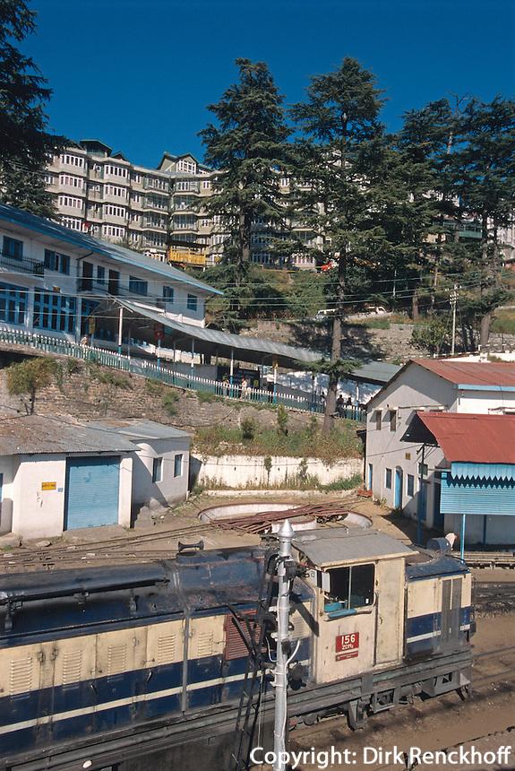 Indien, Himachal Pradesh, Shimla, Bahnhof, Unesco-Weltkulturerbe