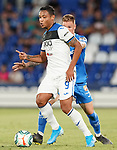 Getafe CF's Raul Garcia Carnero (r) and Atalanta BC's Luis Muriel during friendly match. August 10,2019. (ALTERPHOTOS/Acero)