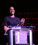 Condola Rashad on stage at the 73rd Annual Theatre World Awards at The Imperial Theatre on June 5, 2017 in New York City.