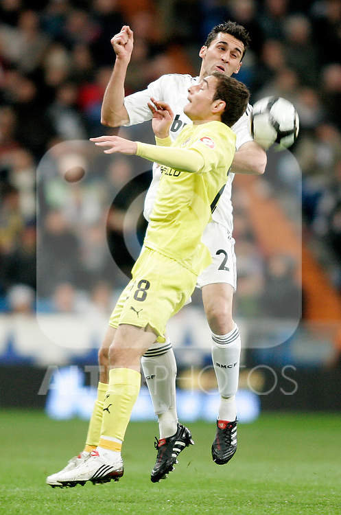 Real Madrid's Alvaro Arbeloa during La Liga match. February 21, 2010. (ALTERPHOTOS/Alvaro Hernandez).