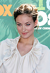 Actress Olivia Wilde arrives at the 2008 Teen Choice Awards at the Gibson Amphitheater on August 3, 2008 in Universal City, California.