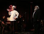"""Eddie Varley and John Guild during the Epress preview for """"Truffles: Music! Mushroom Murder!!!"""" at Secret Room on November 15, 2019 in New York City."""