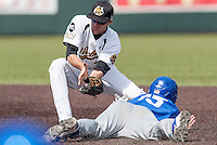 Erik Harbutz (38) in action during the NCAA matchup between the Indiana State Sycamores and the Wichita State Shockers at Eck Stadium on April 6th, 2012 in Wichita, Kansas. The Shockers defeated the Sycamores 11-3. (William Purnell/Four Seam Images)