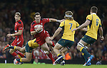George North weaves his way through the Australian defence.<br /> Dove Men Series 2014<br /> Wales v Australia<br /> Millennium Stadium<br /> 08.11.14<br /> &copy;Steve Pope-SPORTINGWALES